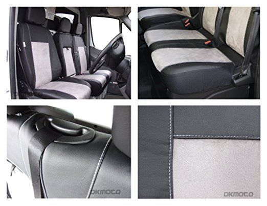 Tailored Seat Covers Ford Transit Custom Leatherette Alcantara