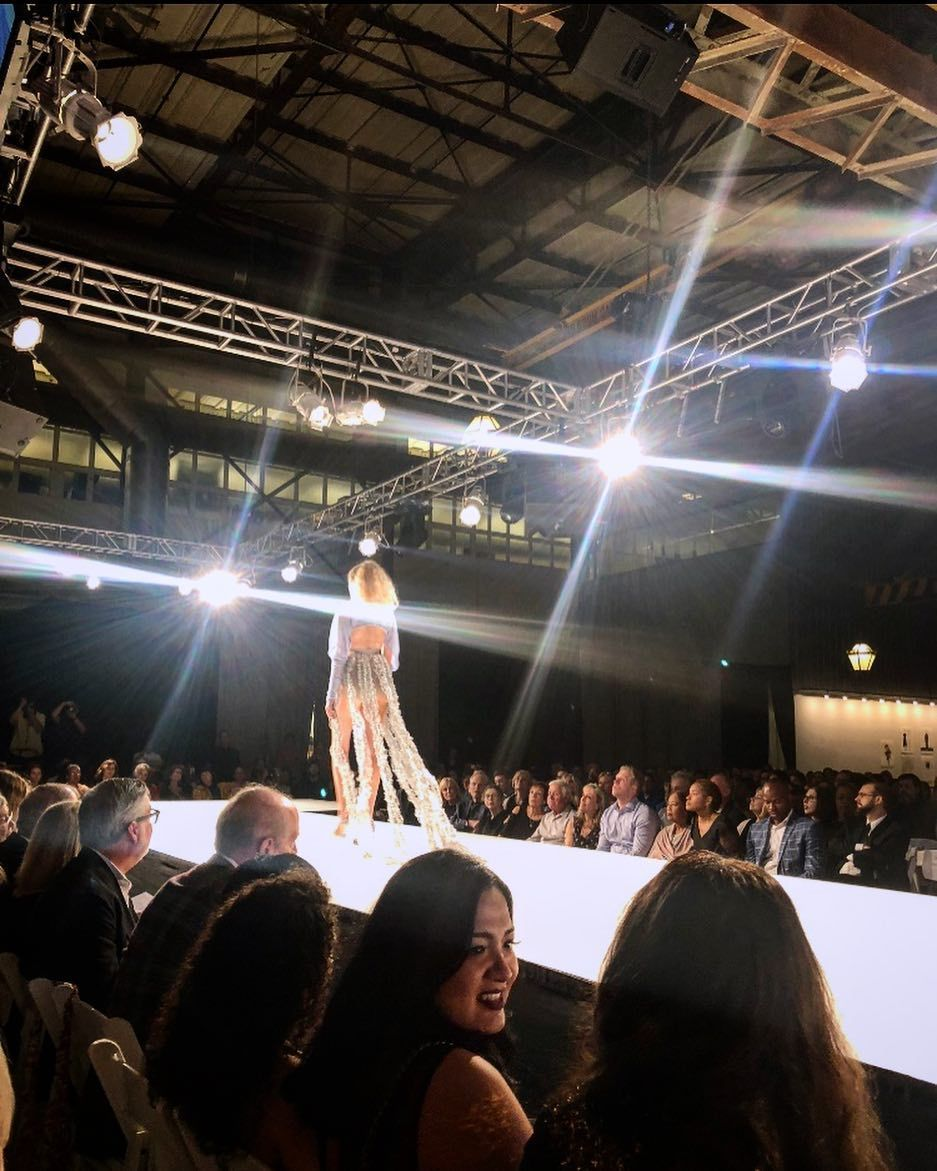 Runway Lights And A Dramatic Setting For My First Look My Lit From Within Collection Debuted At Drexel Fashion 2018 Last Week Photo Fashion Fashion Design