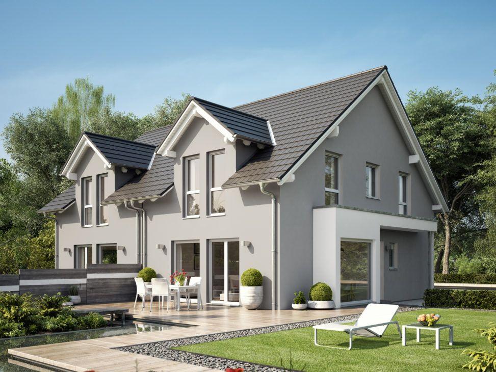 Doppelhaus mit Satteldach Architektur & Erker