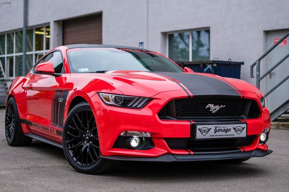 Mustang Gt 5 0 Red Mustang Mustang Wheels Mustang