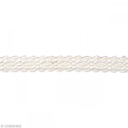 Fabric tape thermofixable - Dentelle blanche - 17 mm x 2,5 m - Masking tape tissu #fabrictape