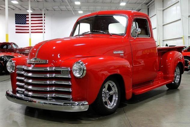 1951 Chevrolet 3100 Truck Red 8 Cylinder Automatic 2 Wheel Drive Classic Trucks Grand Rapids Mi Old Pickup Trucks Classic Pickup Trucks Antique Trucks