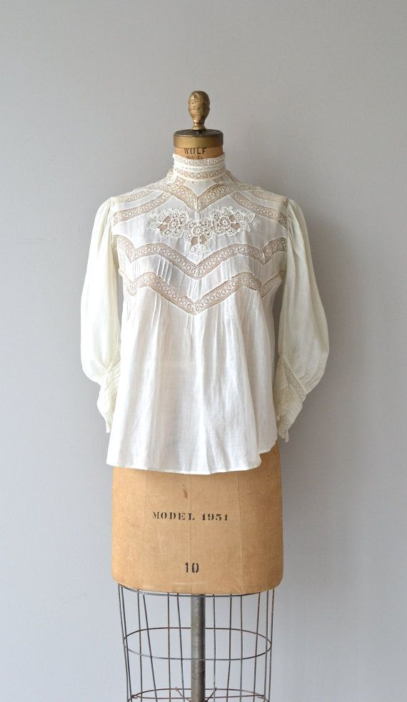 House of Mirth blouse Edwardian lace blouse by DearGolden