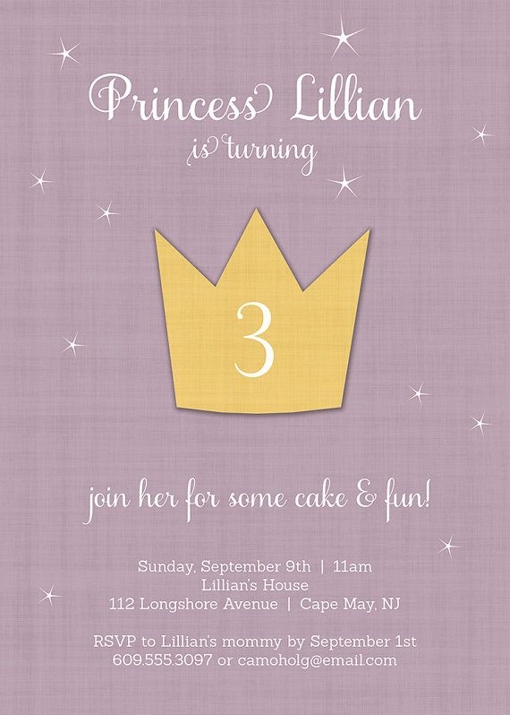 Princess+Birthday+Invitation+Crown+Princess+by+digibuddhaPaperie,+$20.00 *really pretty but im 85% sure i can make this myself