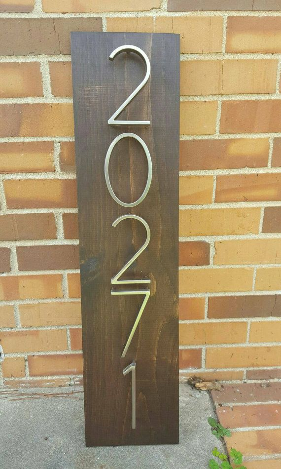 Address Plaque Wooden Address Plaque House Numbers Sign Etsy Address Plaque House Number Plaque House Numbers