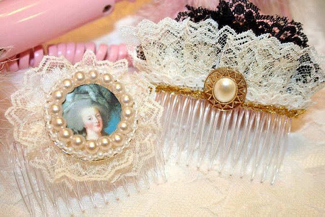 Marie Antoinette hair bows
