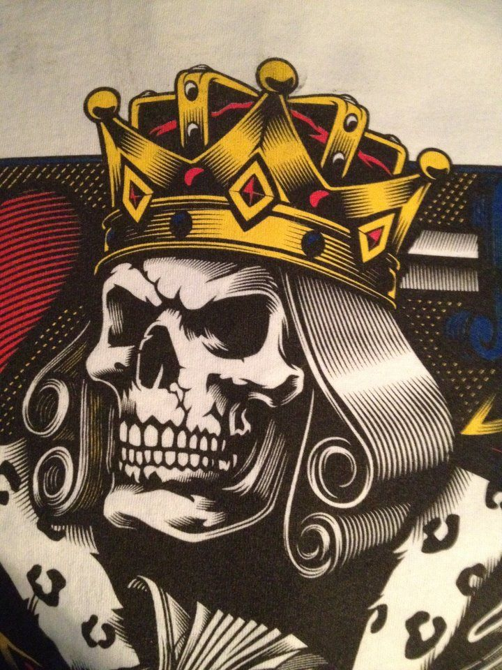 King more art pinterest skeleton face skeletons and for Skeleton king tattoo