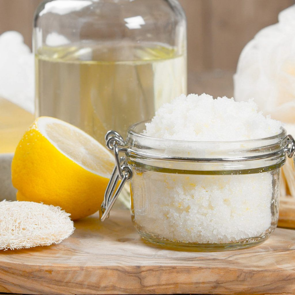 Easy DIY Lemon Sugar Scrub Sugar scrub homemade, Sugar