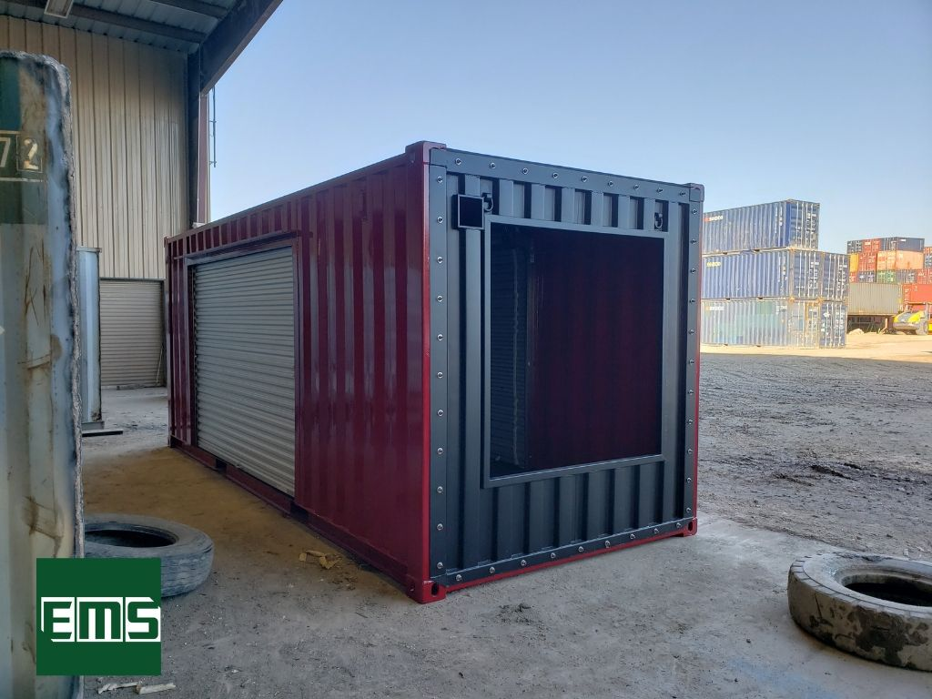 Shipping Container Gallery E M S Shipping Container Roll Up Doors Container