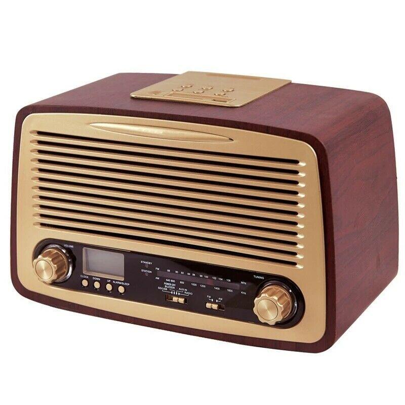 Wooden Am Fm Radio Bluetooth Vintage Retro Speaker Tuner Antique Christmas Gifts Retro Speakers Antique Christmas Vintage Radio