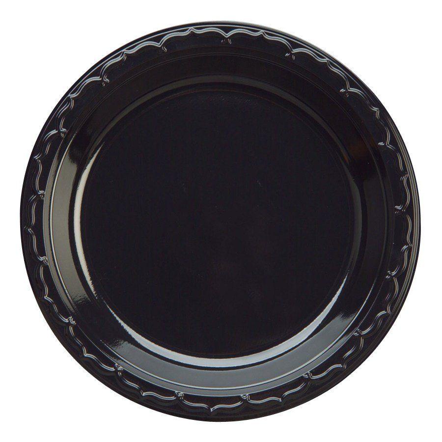 Genpak BLK09 9\  Silhouette Heavy Weight Black Plastic Plate 100 / Pack  sc 1 st  Pinterest & Genpak BLK09 Silhouette 9\