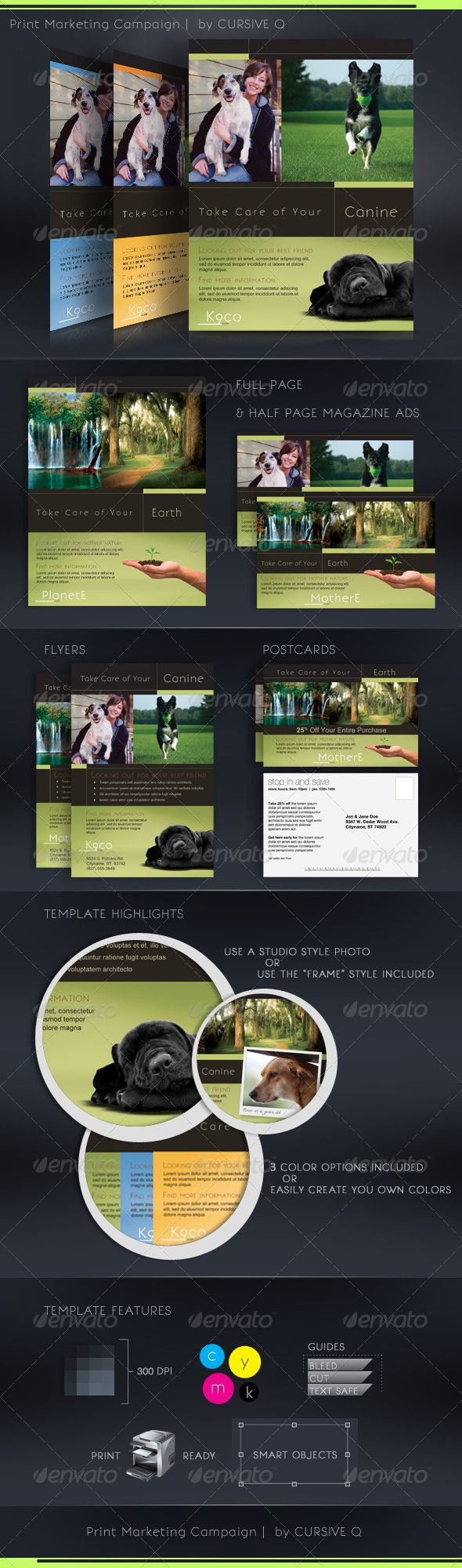 Print Marketing Campaign Template Set  Template Print Templates