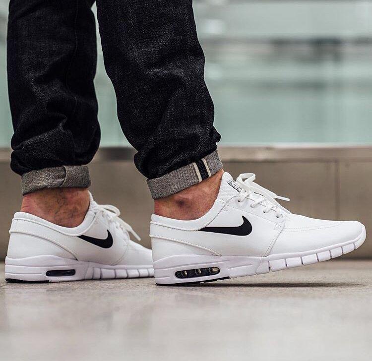 Nike SB Stefan Janoski max, White/ Leather | Nike stefan janoski ...