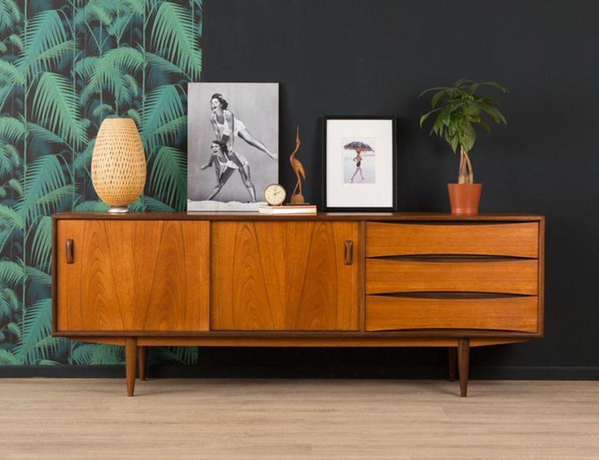 Vintage Scandinavian Teak Sideboard With Drawers. Kommode  VintageSchlafzimmerWohnzimmerKommode ...