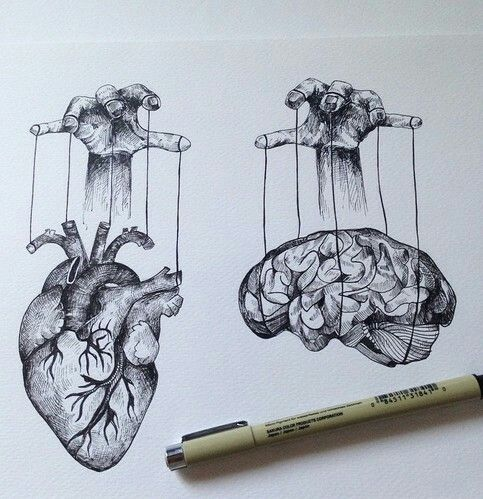 brain & heart ... wish i could control both at times ...