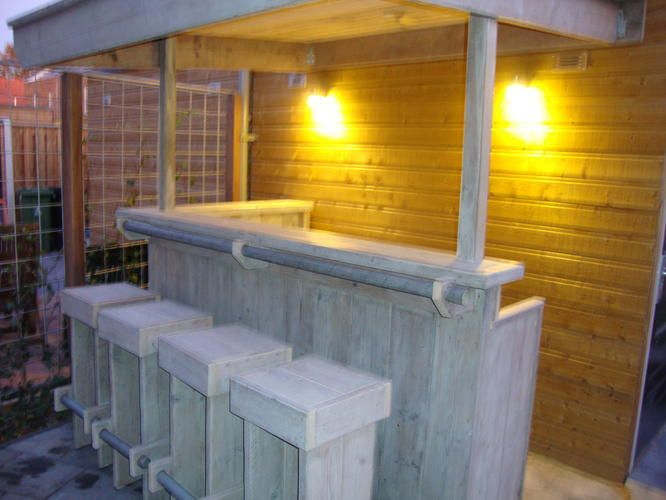 Hedendaags Maken van buitenbar | Bars - Tuin ideeën, Tuin bar en Tuin veranda YY-62