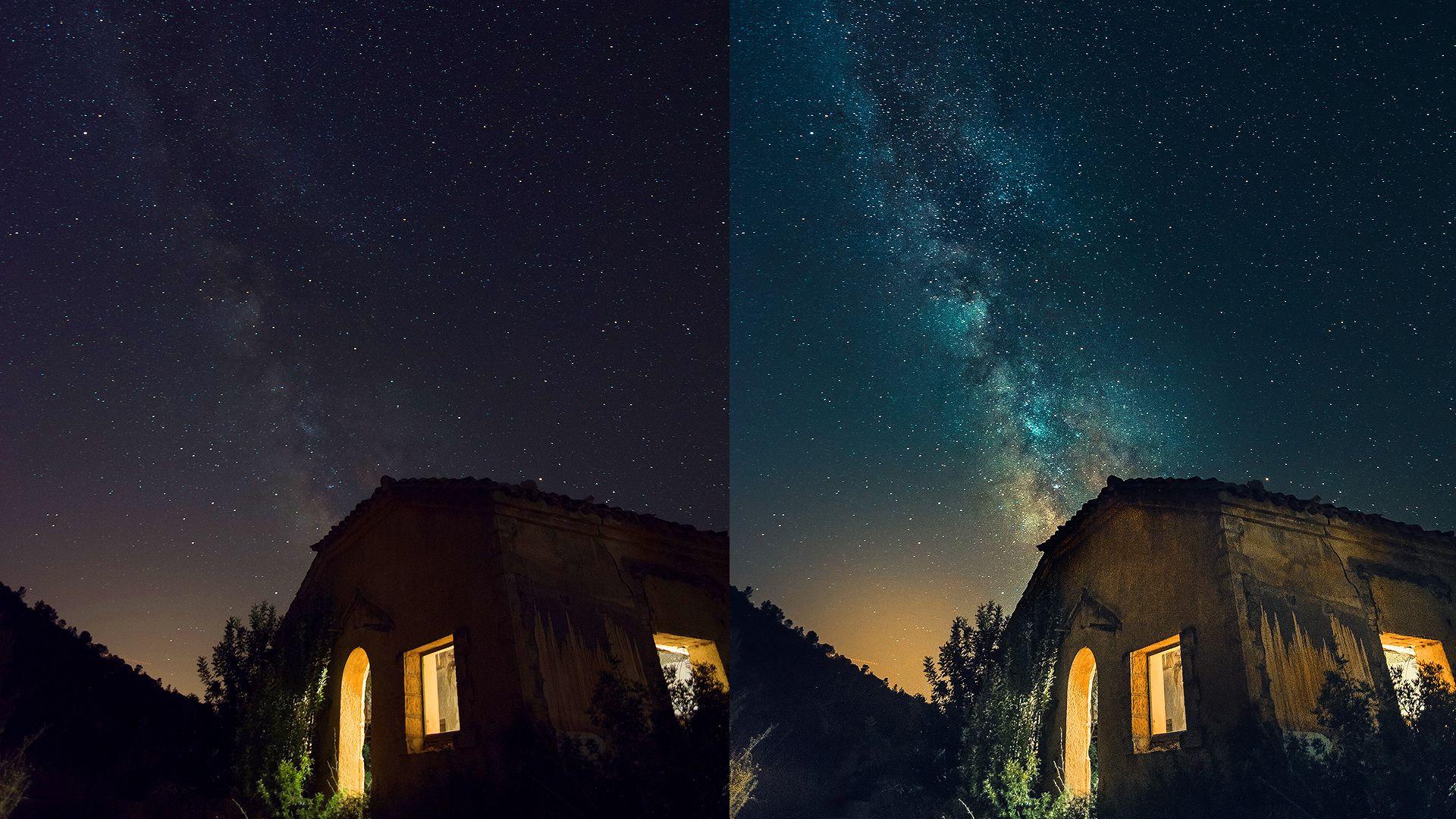 Editing milky way photos