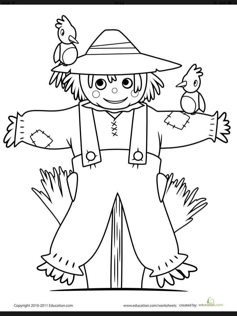 Work/Kids Coloring by Lili Post Fall coloring pages