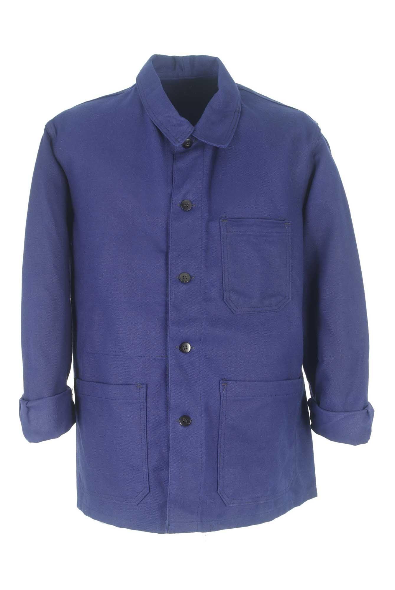 veste bleu de travail veste de travail homme chez be bop. Black Bedroom Furniture Sets. Home Design Ideas