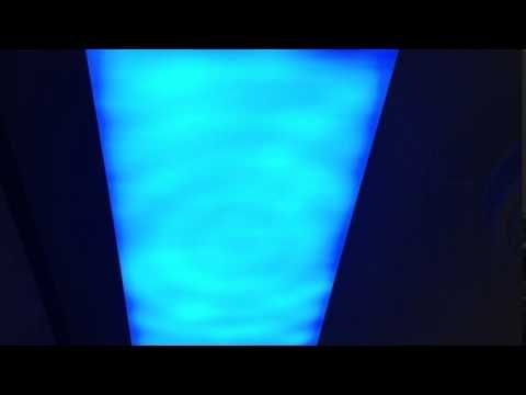 Water ripple effect by Artificial Sky ceiling LED panels - YouTube #waterripples