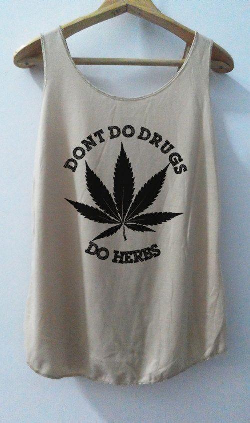 Cannabis Shirt Tank Top Smoking Herbal Smoke by vintageartshirt