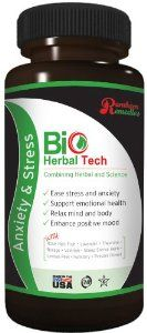 Bio Herbal Tech Anxiety & Stress by Bio Herbal Tech. $19.99. Relax Mind and Body. Support Emotional Health. Enhance Positive Mood. Ease Stress and Anxiety. Rambam Remedies. Bio Herbal Tech Anti-Anxiety & Stress formula includes: Rose Hips Fruit, Borage, Lavender, Fumitory, Lemon Peel, Sheep Sorrel, Theanine, Passion Flower and Valerian.  All Bio Herbal Tech products are GMP certified, vegetarian, made in the USA and are Star K Kosher Certified.