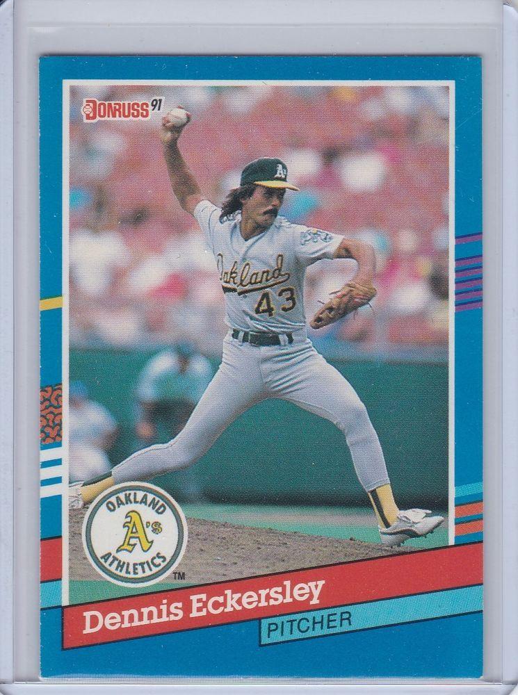 1991 donruss dennis eckersley oakland as baseball card no