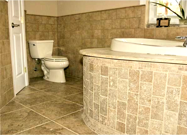 Photo of ideas to update a bathroom with bone almond fixtures including toilet, tub, surr…