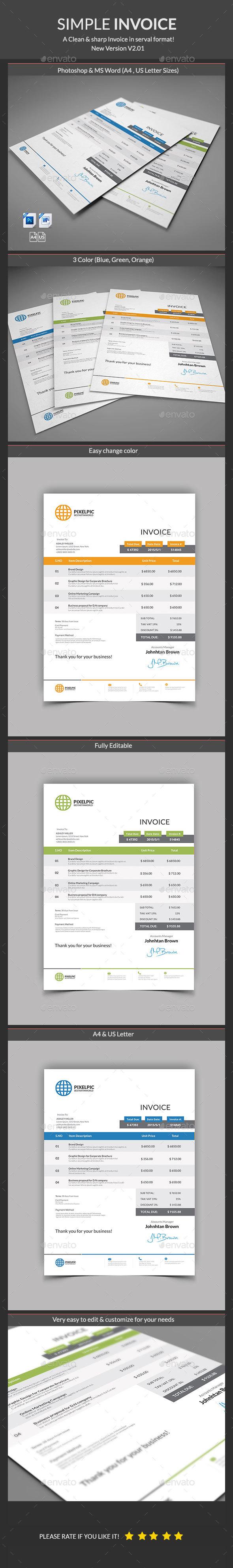 Invoice Bill Template Microsoft Word Invoice Template Invoice Template