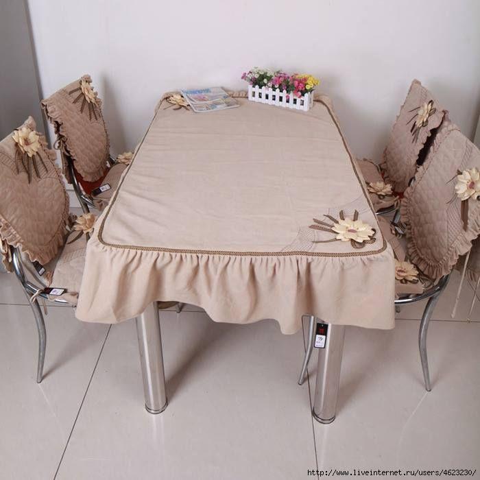 Juego completo para sillas y comedor cobertores de for Juego de comedor para cocina