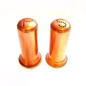 Country Copper Salt and Pepper Shakers