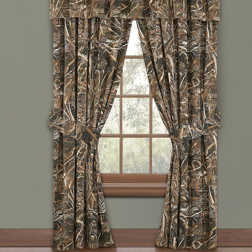 Realtree Camo Window Drapes Window Valance Curtains Custom Drapes