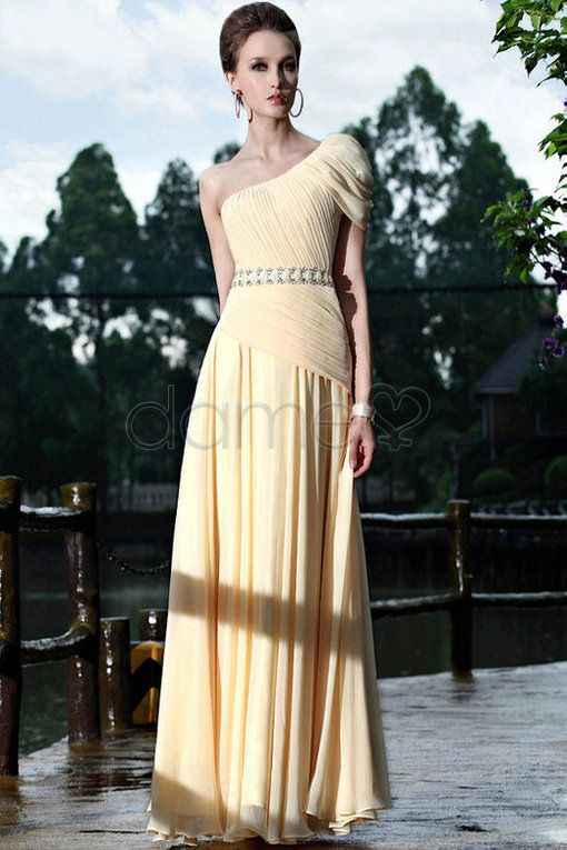 Abendkleid chiffon perlen
