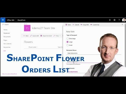 *SharePoint Flower Orders List* Create a SharePoint list