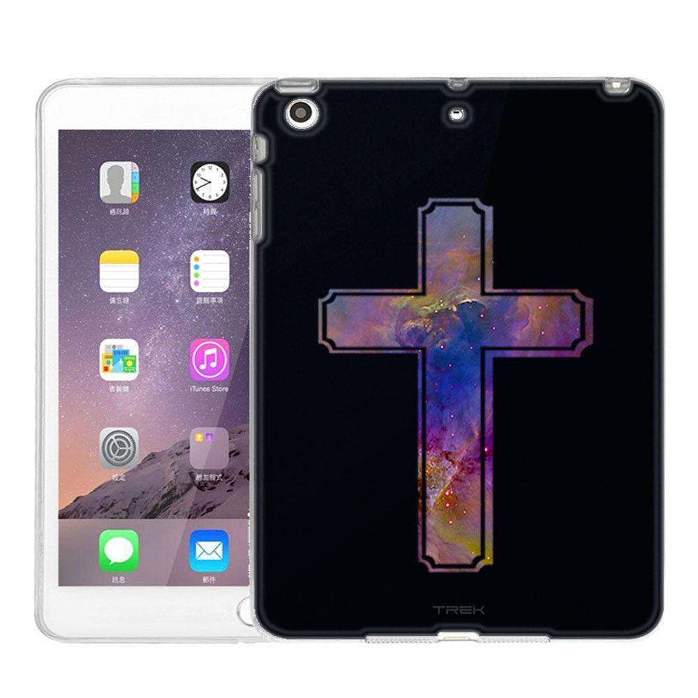 Apple ipad mini nebula multicolor cross on black slim case