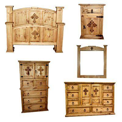 Million Dollar Cross Mansion Bedroom Set Rustic Furniture Showroom Home
