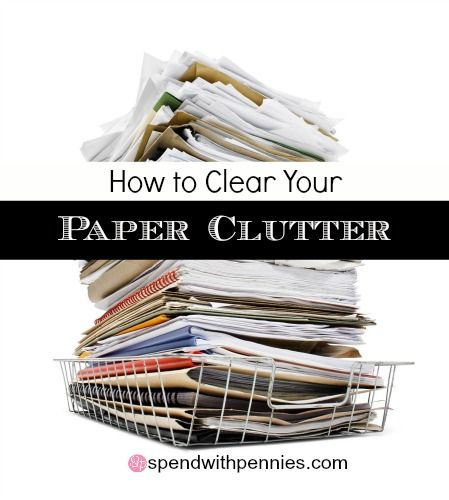 How to Clear Your Paper Clutter Love it? Pin it to SAVE it! Follow Spend With Pennies on Pinterest for more great tips, ideas and recipes! Leave your own great tips in the comments below! Has your kitchen table or counter been taken over by paper...