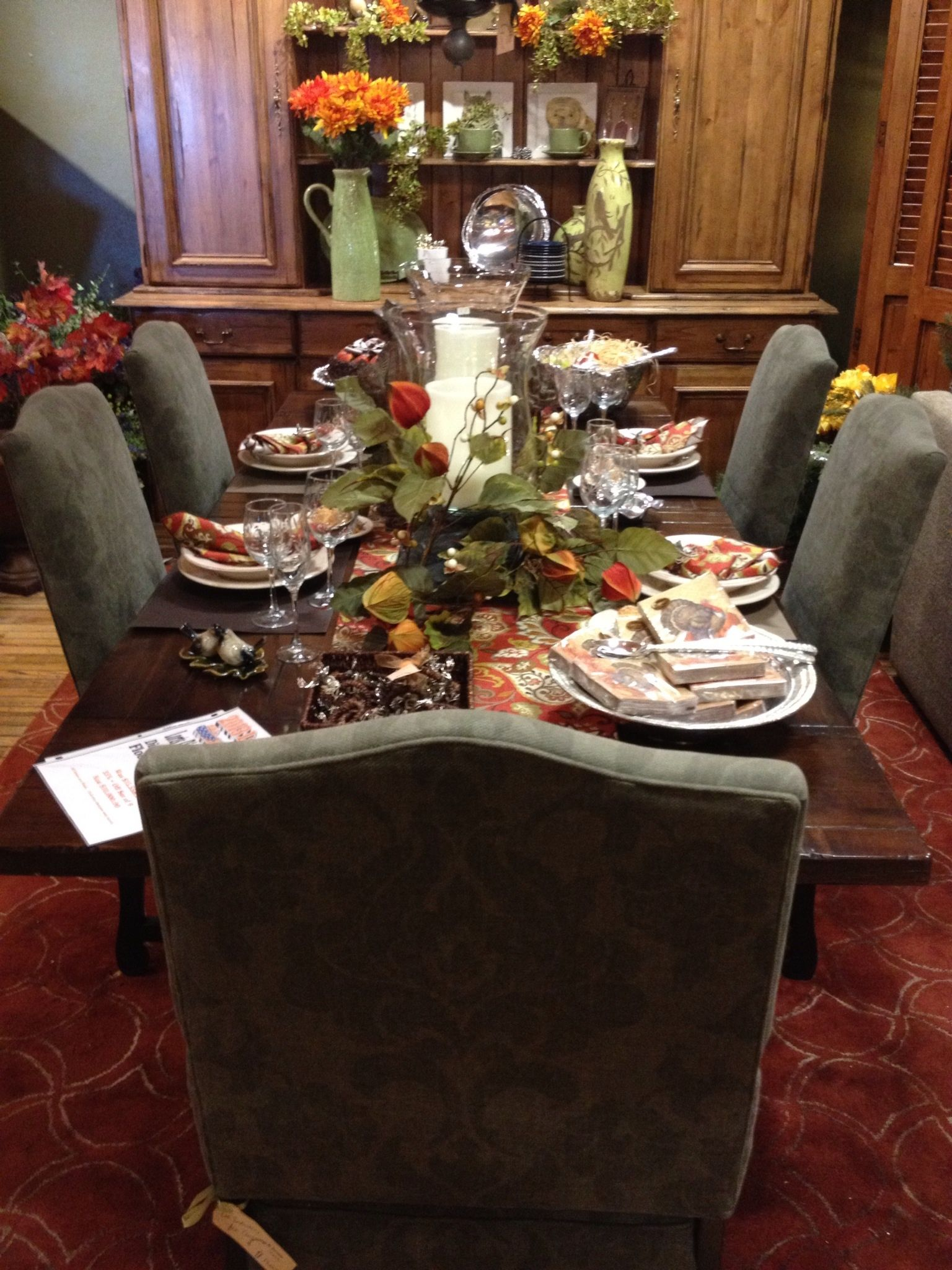 Dining table from Lorts with chairs from Lee Industries