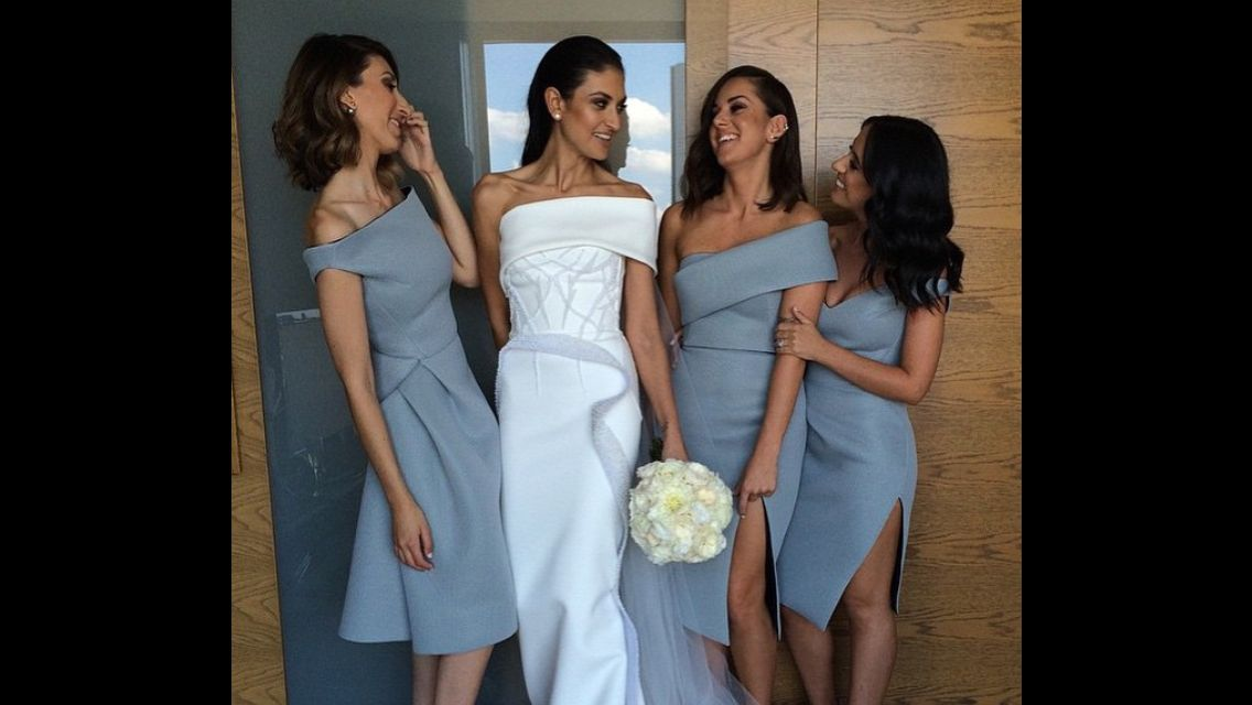Toni Maticevski Bridal Gown and Bridesmaid Dresses
