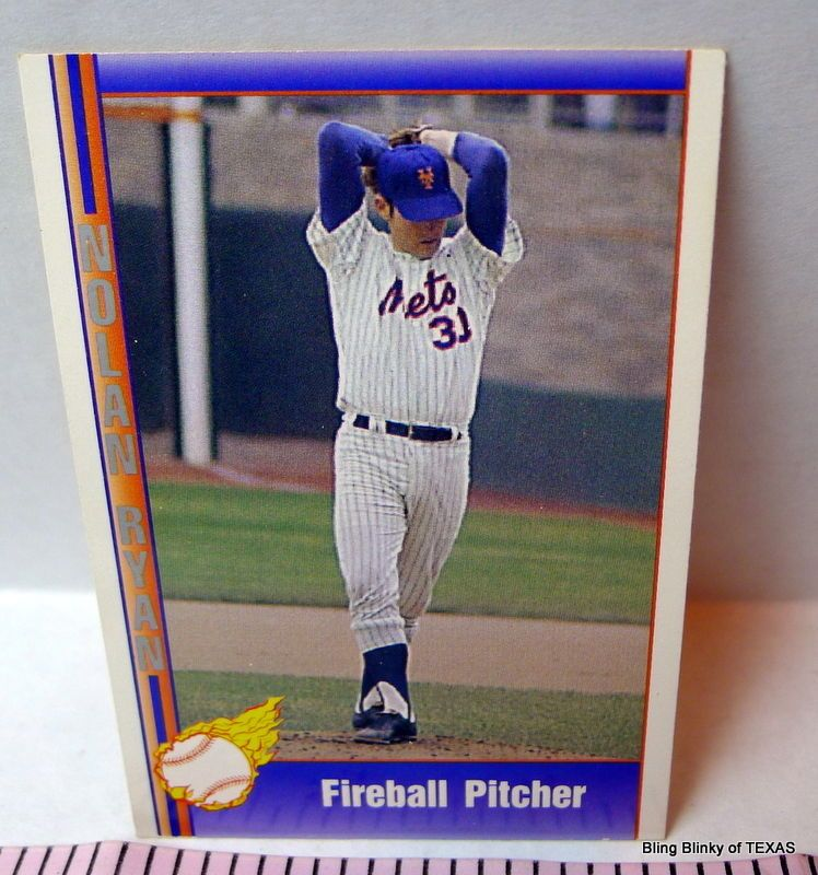 Nolan Ryan Fireball Pitcher Mets Pacific Trading Cards Ryan
