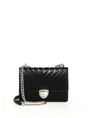576d7719650f2b PRADA Madras Woven Leather Chain Bag. #prada #bags #shoulder bags #leather # lining #