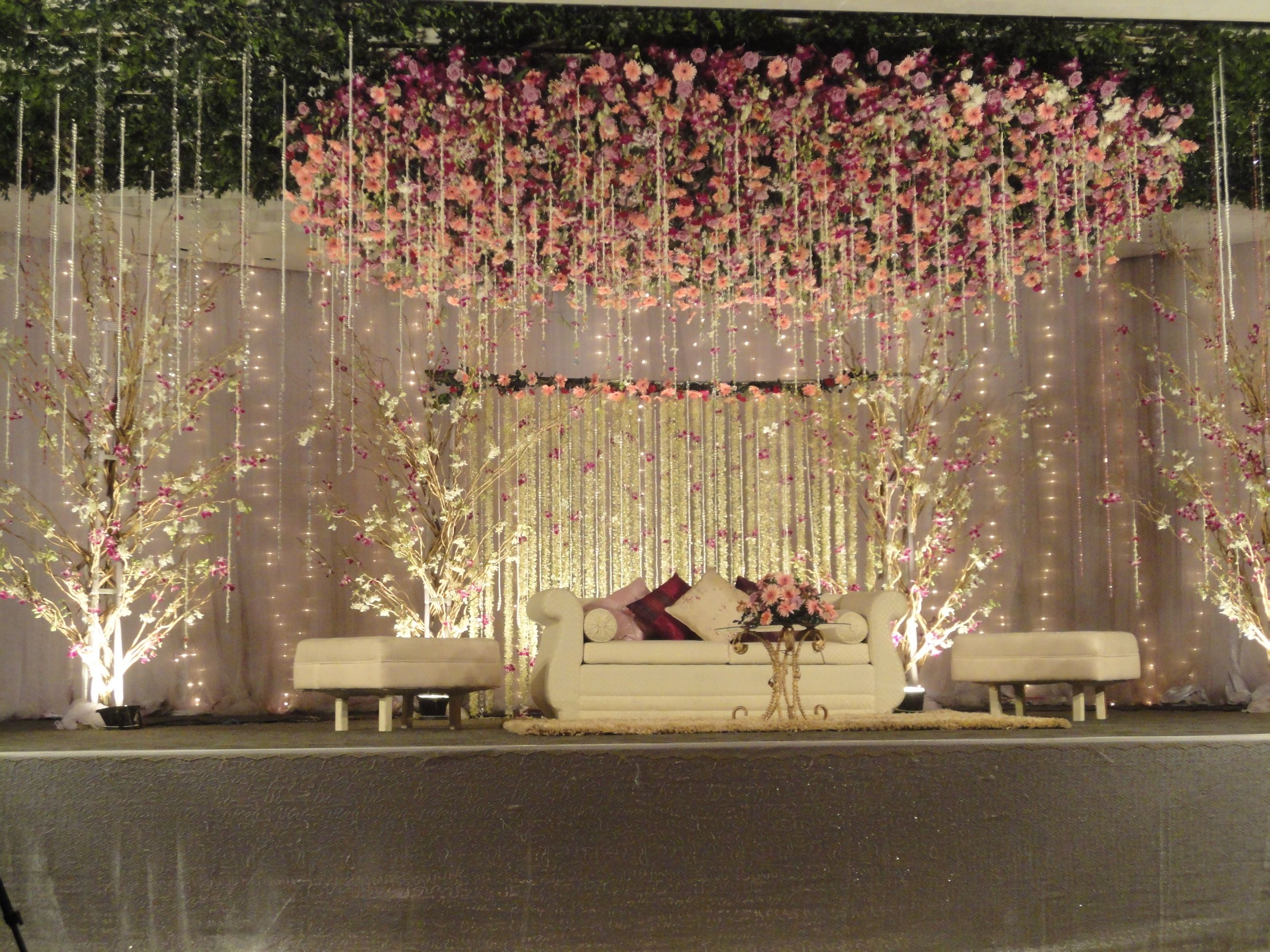 Wedding reception stage decoration images  great stage at radisson  romantic this was for an engagement