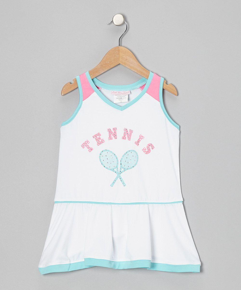 White Teal Tennis Dress Girls Zulily Toddler Girl Dresses Girls Tennis Dress Tennis Dress