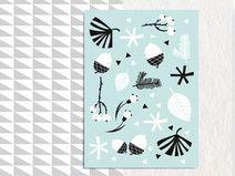 Winterkarte, Mint, Postkarte