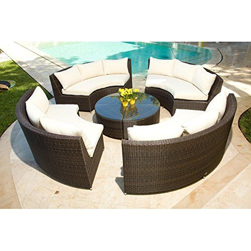 Source Outdoor Circa Allweather Wicker Round 4 Bench Conversation Set This Is An Amazon Asso Outdoor Furniture Wicker Patio Furniture Patio Furniture Covers