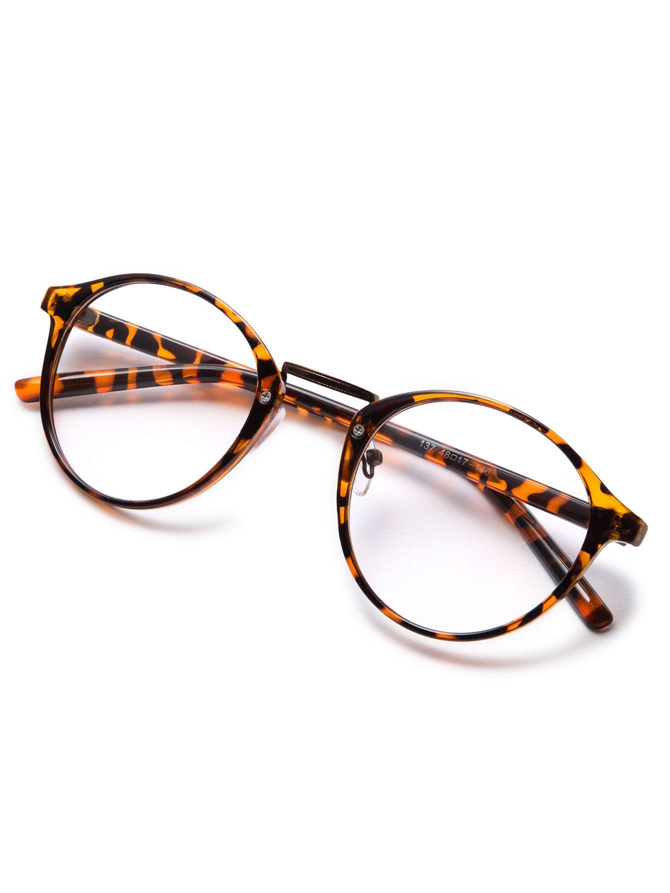 6beb16f086 Brown Plastic Leopard Frame Round Glasses