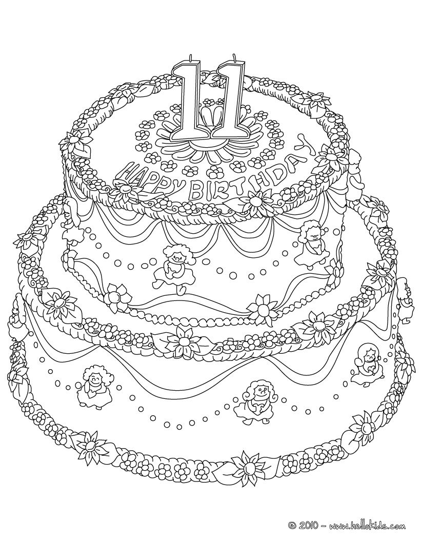 11 Year Old Coloring Pages Free Coloring Pages Birthday Coloring Pages Coloring Pages For Girls Happy Birthday Coloring Pages