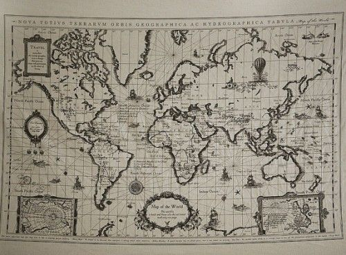 Map of the world antique linen illust cut fabric for bulletin sale retro cotton linen fabric antique world map by himekoko gumiabroncs Choice Image
