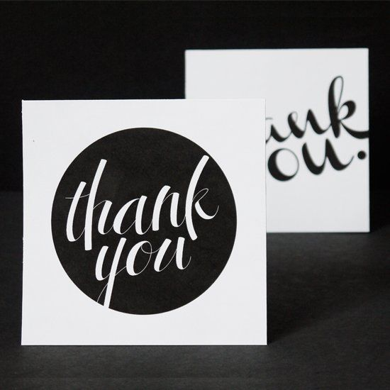 Download these free printable calligraphic Thank You cards and embellish any way you want!