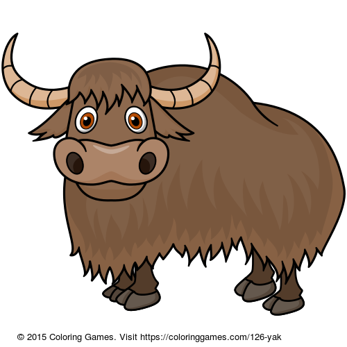 Yak Coloring Games Coloring Pages Coloring Games For Kids Animal Coloring Pages Cartoon Animals